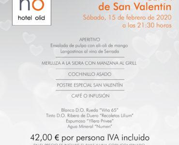 Menú Cena San Valentín